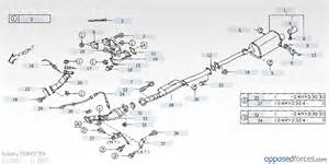 1996 Subaru Legacy Exhaust System Diagram Muffler Assembly 44300sa040 Gt Alt New 44300sa041