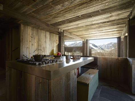 Colorado Kitchen Design Rustic Kitchen Wood Steel La Muna Aspen Colorado By Oppenheim Architecture Design