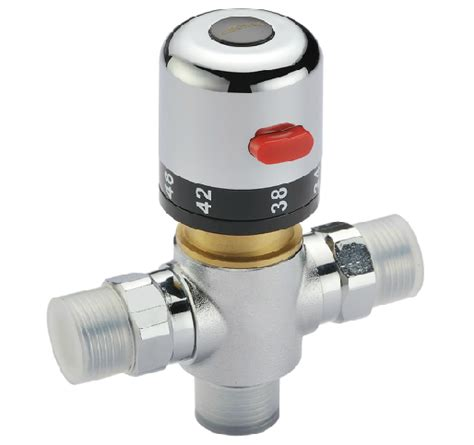 Water Faucet Valve by Adjustable Chromeplate Brass Thermostatic Mixing Valve Bath Shower Faucet Water Valve Heater