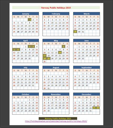 norway public holidays  holidays tracker