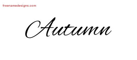 autumn archives free name designs