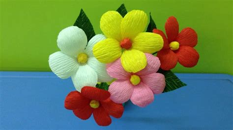 How To Make Flower Using Crepe Paper - how to make crepe paper flowers flower of crep