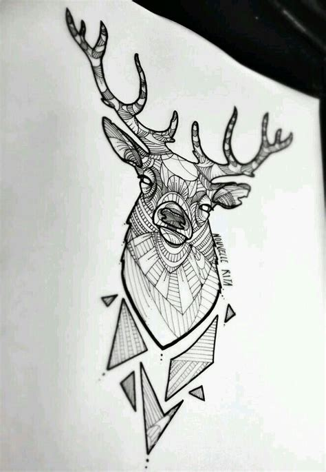 geometric tattoo vorlagen deer minimal geometric draw ink pinterest