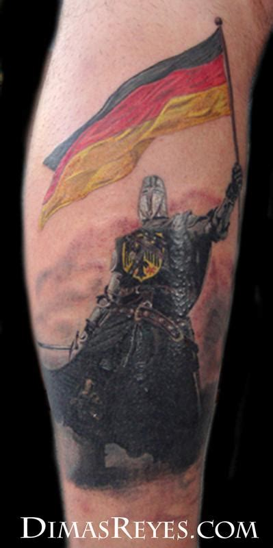 realistic knight tattoo by dimas reyes tattoonow