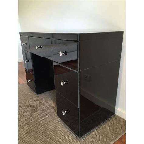 black dressing table with drawers mirrored 7 drawer vanity dressing table in black buy