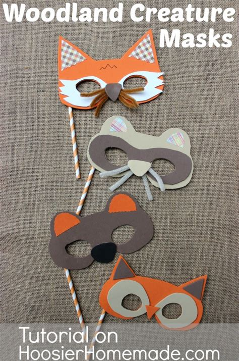 woodland animal masks template fall for with woodland creature mask tutorial