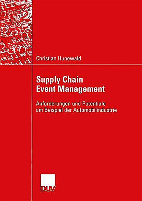 Mba Supply Chain Management Harvard by Supply Chain Management Supply Chain Management Was Ist Das