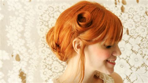 Wedding Hairstyles Etsy by The Pin Curl Updo Etsy Weddings