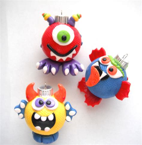 Handmade Monsters - ornaments monsters handmade glass polymer by