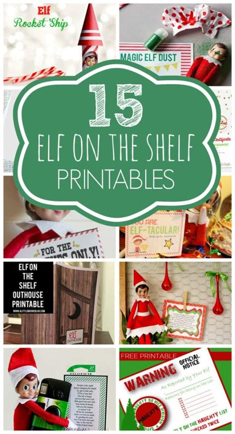 printable elf on the shelf stuff 15 free elf on the shelf printables pretty my party