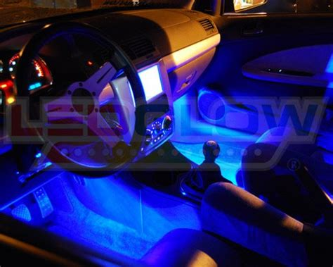 home interior paint colors interior car led lights ledglow 4pc blue led car interior underdash lighting kit