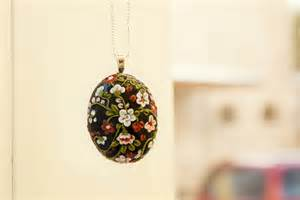How To Start A Flower Shop - polymer clay floral pendant by innaadamenya on deviantart
