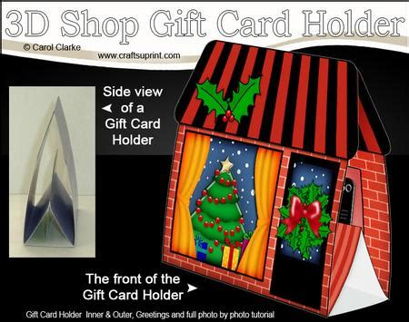 3d little christmas tree shop gift card holder cup484858