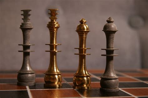 deco chess set modern deco metal chess set by midcenturychess on etsy