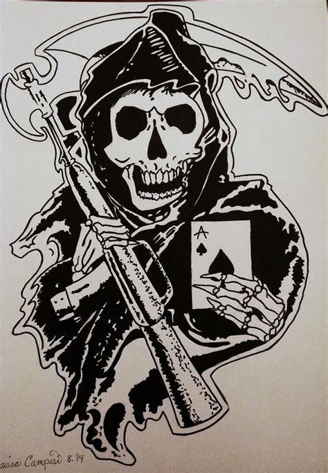 sons of anarchy tattoo design by mac92795 on deviantart
