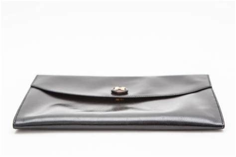 7 Excellent Envelope Clutches by Hermes Black Leather Envelope Clutch For Sale At 1stdibs