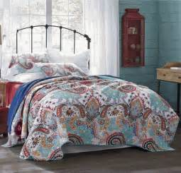 Quilt Sets by Nirvana Green Moroccan Boho Paisley Quilt Set