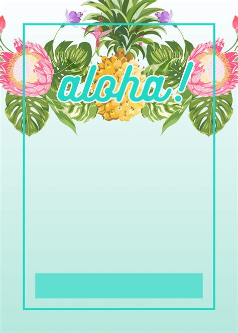 card template hawaian birthday jazlyn pineapple luau perimeter free printable birthday