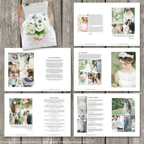 free templates for wedding brochures wedding photography magazine template 22 page digital