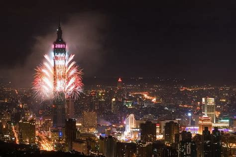 how is new year in taiwan colorful fireworks