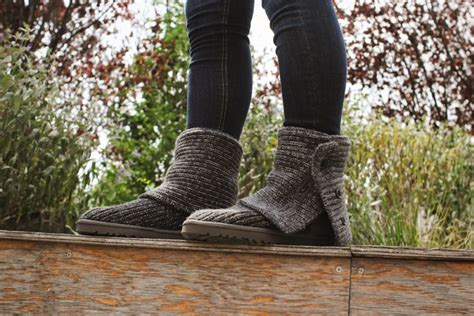 ugg australia cardy classic knit boot women ugg australia s knit wool boot for women the classic