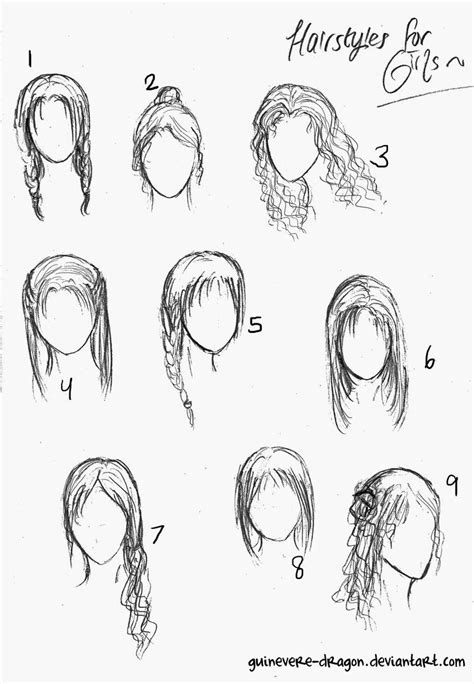 cute easy hairstyles to draw girls hairstyles to draw hairstyles ideas