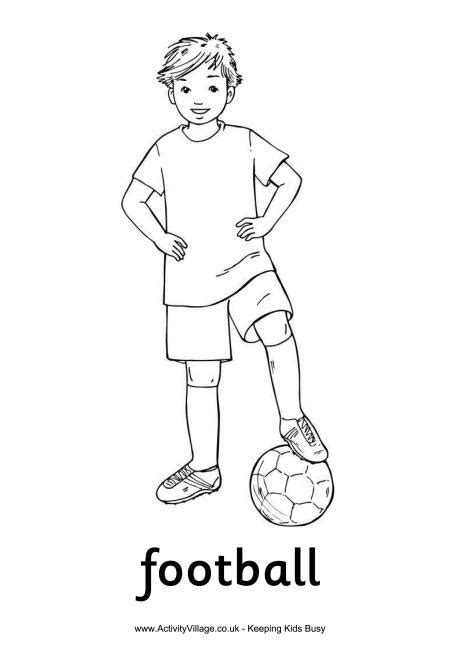 football guy coloring page football boy colouring page