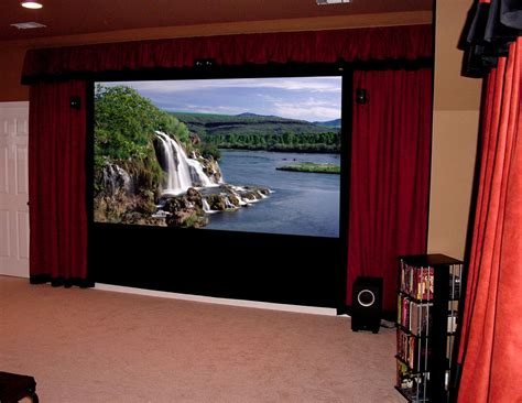 tv curtains home theater and flat panel lcd plasma tv installation