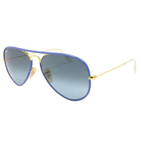 ray ban aviator light blue lens ray ban aviator full colour sunglasses rb3025jm 001 4m