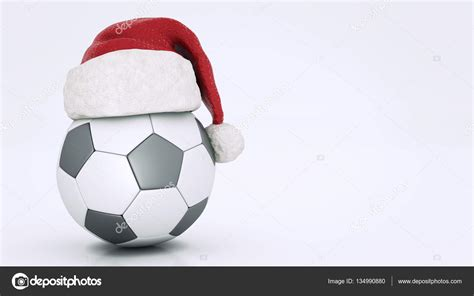 imagenes navidad futbol concepto de la navidad bal 243 n de f 250 tbol render 3d foto