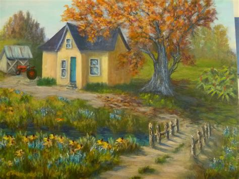 country paintings country farmhouse painting palomares