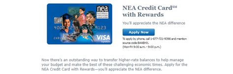 nea bank bank of america nea credit card with rewards 100