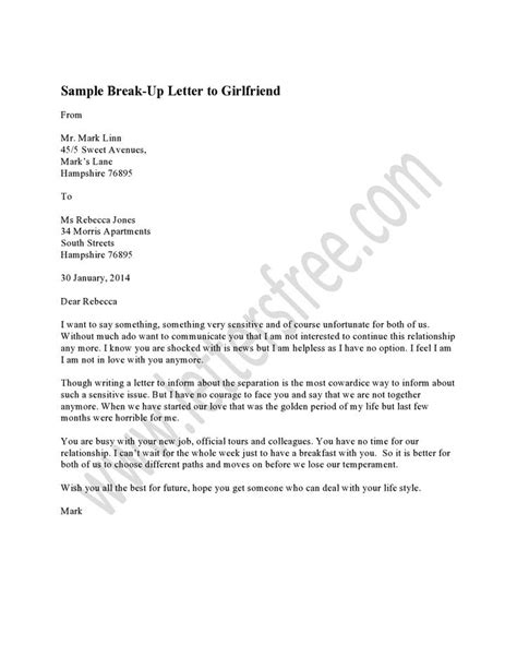 breakup letter to 1000 images about sle up letter on