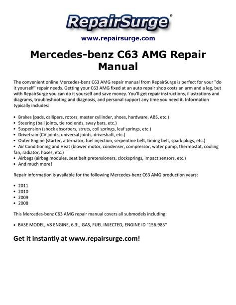 service manual online service manuals 2008 mercedes benz slr mclaren security system used mercedes benz c63 amg repair manual 2008 2011 by michael jatenson issuu