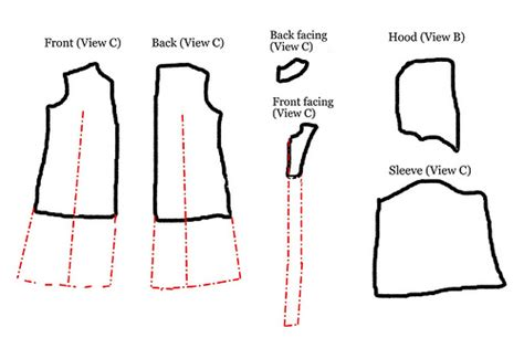 free pattern jedi cloak pattern alterations for making a jedi robe flickr