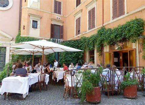 best restaurant rome italy outside in rome