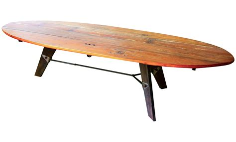 mid century wood coffee table mid century reclaimed wood surfboard coffee table chairish