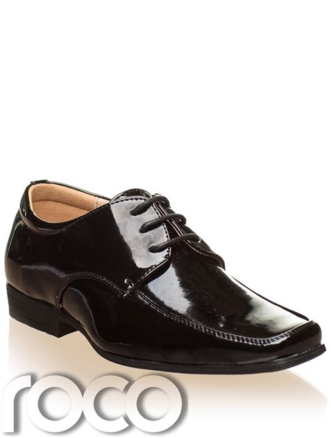 boy shoes boys black patent shoes boys formal shoes boys wedding