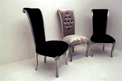 black velvet dining chair with a glamorous crystal