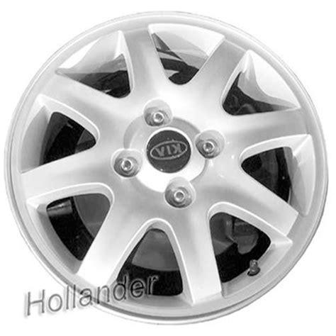 kia spectra rims 2004 2006 kia spectra wheels silver rims 74574