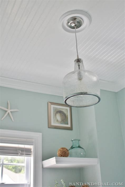How To Install Wainscoting On Ceiling by Installing Wainscoting Sand And Sisal