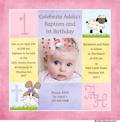1st Birthday And Christening Invitation Templates 1st Birthday And Christening Baptism Invitation Sle Baptism 1st Communin Ideas 1st