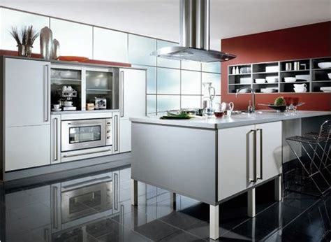 sleek kitchen cabinets modern sleek kitchen with silver cabinets