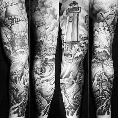 62 most amazing nautical sleeve tattoos ideas and designs