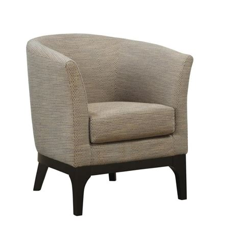 Accent Club Chairs by Coaster Accent Upholstered Club Barrel Chair In Beige 900333