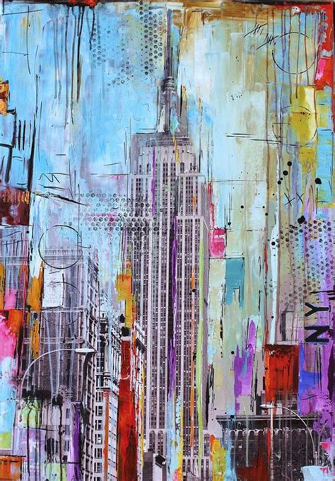 acrylic painting new original painting pop abstract painting new york