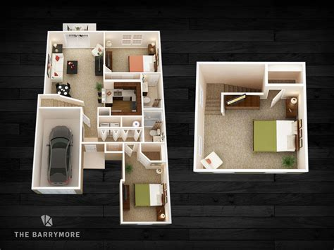 two bedroom townhomes new albany apartments the gramercy at new albany