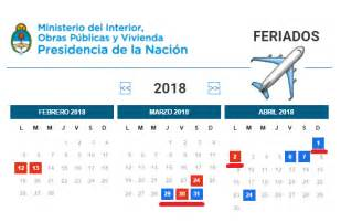 Calendario 2018 Ministerio Interior El 2018 Trae Un Feriado Largo De 5 D 237 As Y Ya Pod 233 S