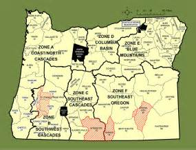 Oregon Hunting Map by Odfw Hunting Cougar