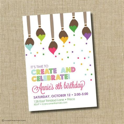 25 best ideas about invitations on paint paint birthday